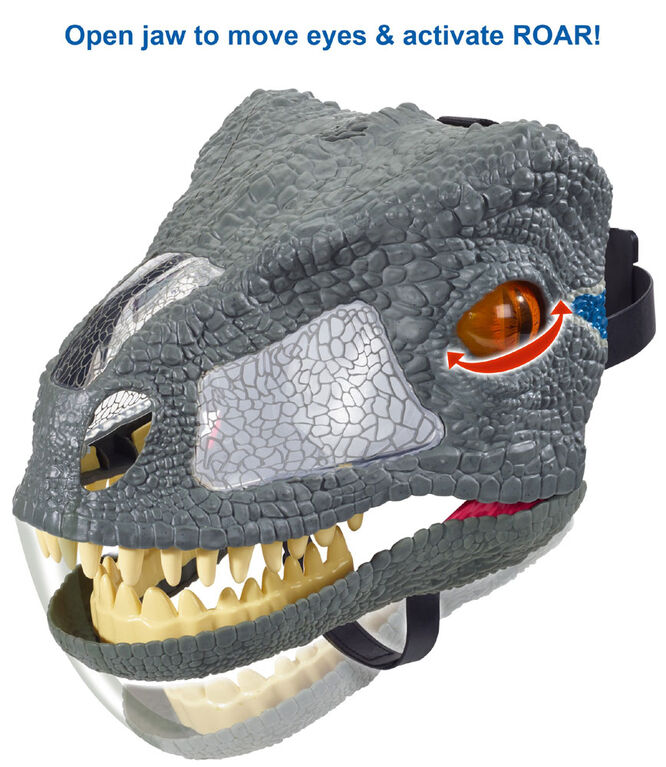 Jurassic World Chomp 'N Roar Mask Velociraptor - Blue