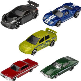 Hot Wheels - Coffret 5véhicules FAST & FURIOUS