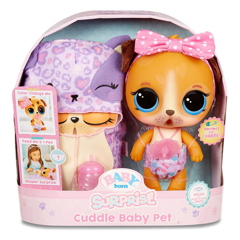 BABY born Surprise Cuddle Baby Pet - Puppy Really Drinks & Pees