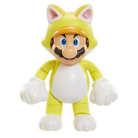 """Nintendo-  World of Nintendo 4"""" Figures Wave 7-Cat Mario w/bell"""