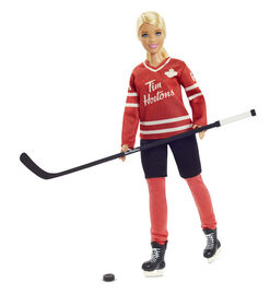 Tim Hortons Barbie Doll (12-inch) Collectible Barbie Doll in Hockey Uniform