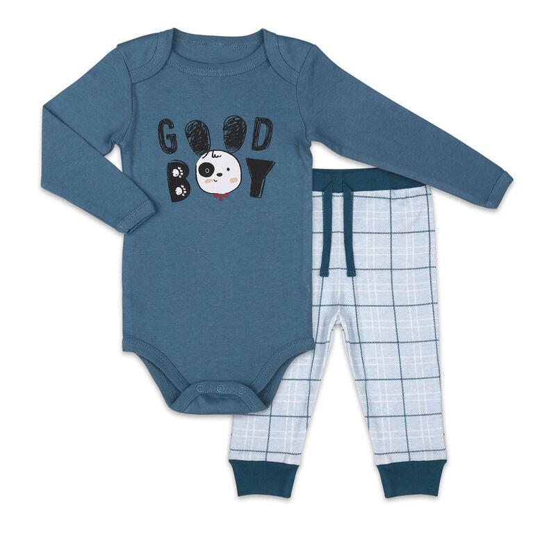 Koala Baby Bodysuit and Pants Set, Good Boy  - 6-9 Months