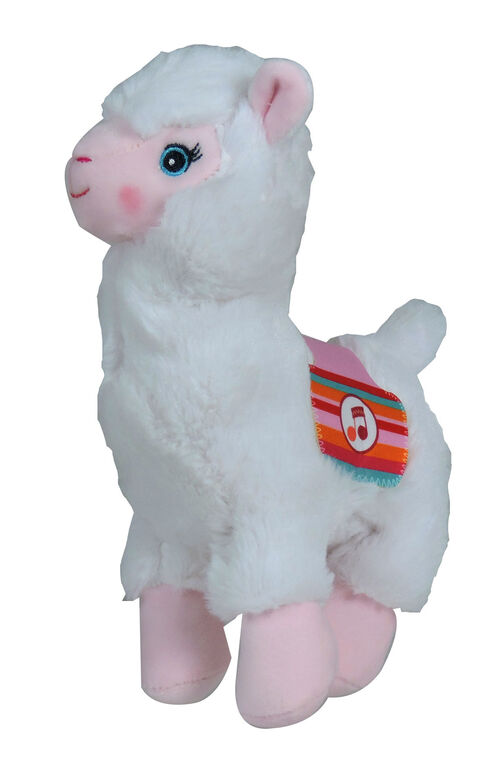 Lamadoo Plush with Sound - 20 cm - White