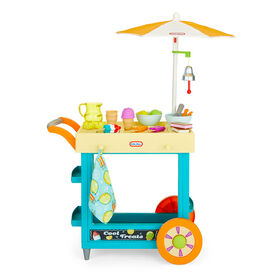Little Tikes 2-in-1 Lemonade & Ice Cream Stand with 25 Accessories and Chalkboard