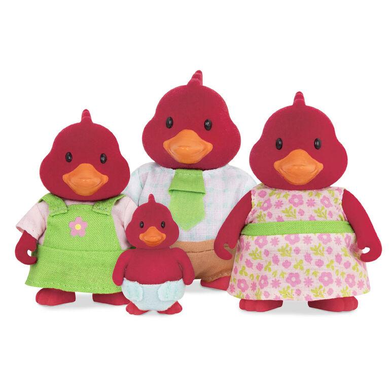 Tailfeather Cardinaux, Li'l Woodzeez, Ensemble de petites figurines d'oiseaux