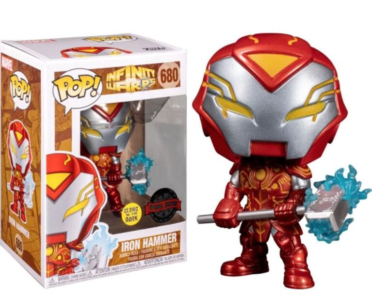 Funko POP! Marvel: Infinity Warps - Iron Hammer (Glow in The Dark) - R Exclusive