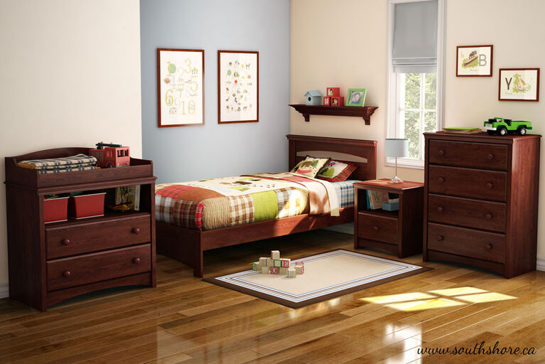 Libra Complete Bed with Headboard- Royal Cherry