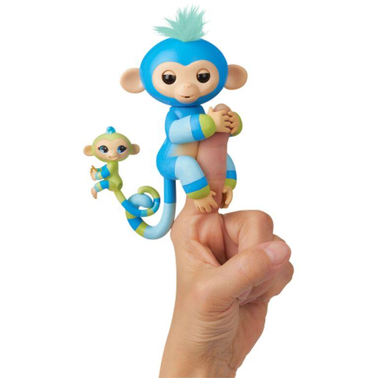 Fingerlings Baby Monkey & Mini BFFs - Billie & Aiden (Blue-Green)
