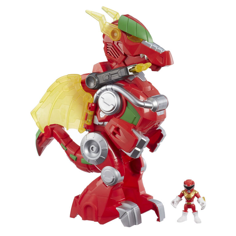 Playskool Heroes Power Rangers Red Ranger and Dragon Thunderzord