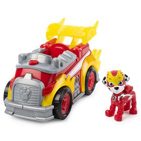 PAW Patrol, Mighty Pups Super PAWs Marshall's Deluxe Vehicle with Lights and Sounds