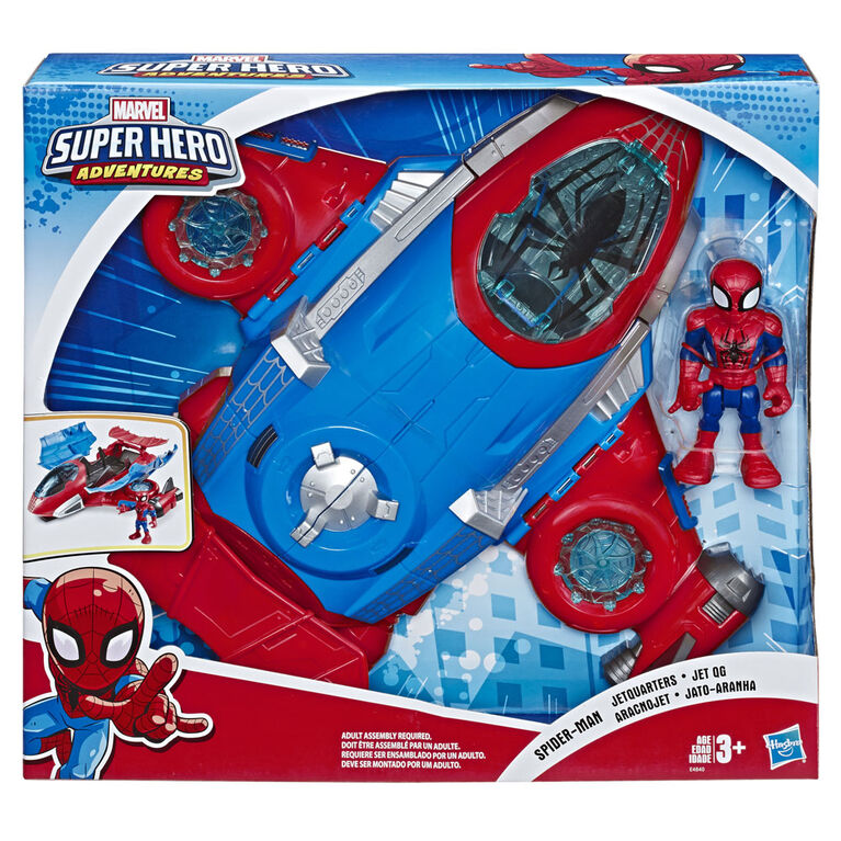 Playskool Heroes Marvel Super Hero Adventures Spider-Man Jet Quarters  071013