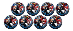 8 Pack Playball with Pump 4 inch Avengers