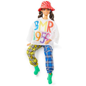 Barbie BMR1959 Poseable Doll in Mesh T-Shirt, Plaid Joggers and Bucket Hat
