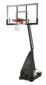 "Spalding 60"" Acrylic Ultimate Hybrid Screw Jack Portable Hoop System"