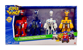 Super Wings Transforming Vehicles 4-pack