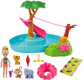 Barbie and Chelsea The Lost Birthday Doll & Splashtastic Pool Surprise Playset