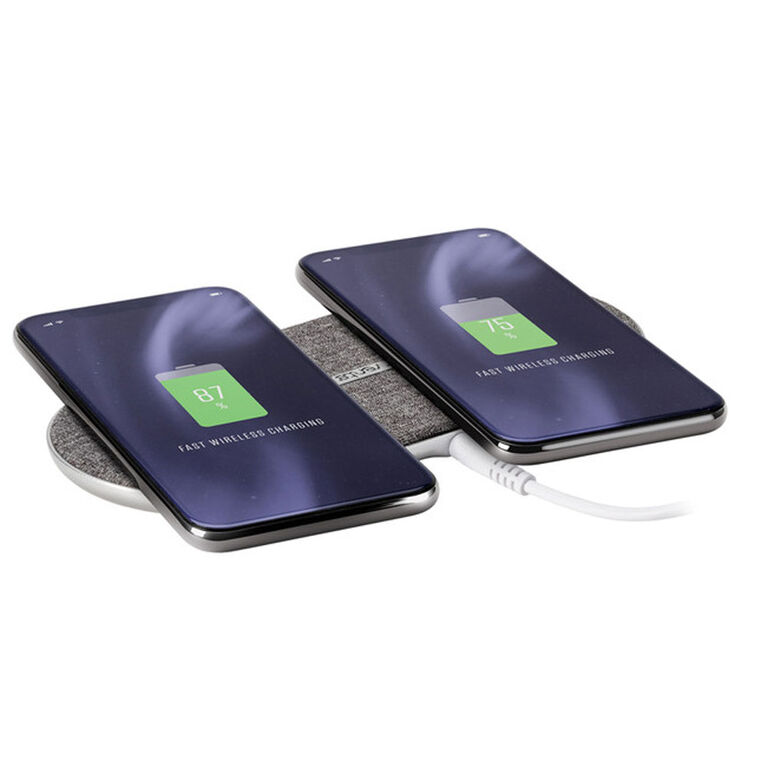 Ventev Wireless Chargepad Duo Qi 10W Grey