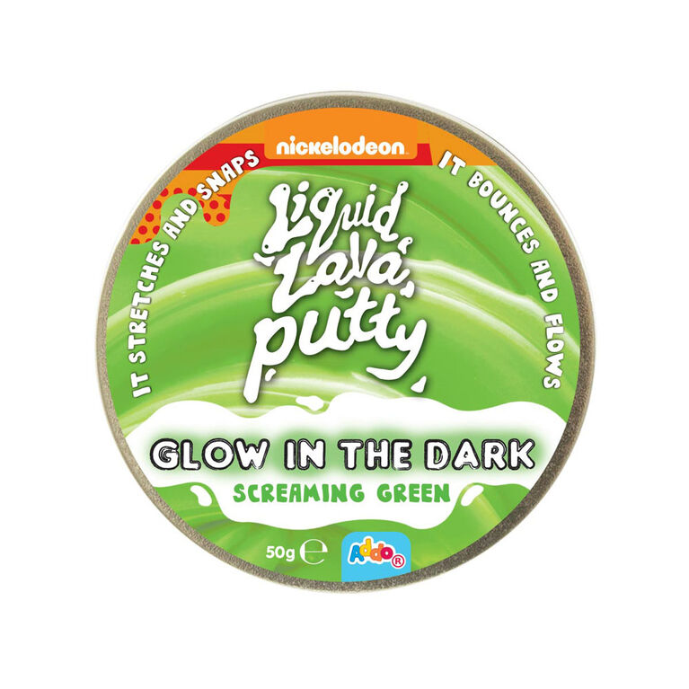 Nickelodeon Liquid Lava Putty Glow In The Dark Screaming Green - R Exclusive