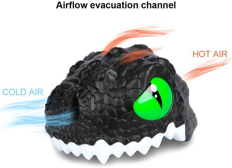 Animiles - Casque 3D Dragon pour enfant - Noir, Taille unique, de 3 à 8 ans - Édition anglaise