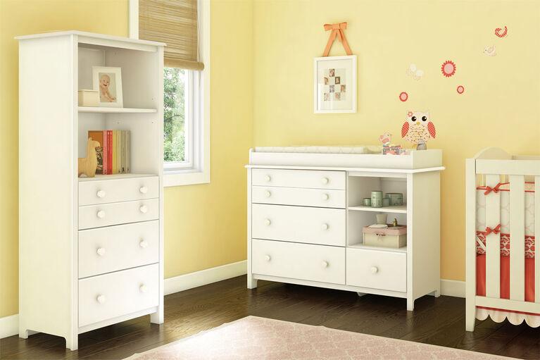 Little Smileys Étagère avec tiroirs- Blanc solide