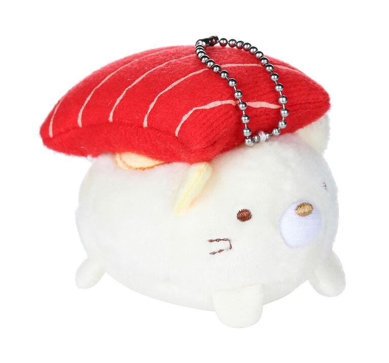 Sumikko Gurashi Plush Stuffed Animal Keychain Neko-Maguro (Tuna Sushi)