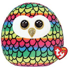 Ty Squish Owen Rainbow Owl 10 inch