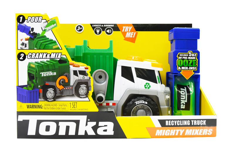 Tonka - Mega Machines Mighty Mixers Light and Sound - Recycling Truck
