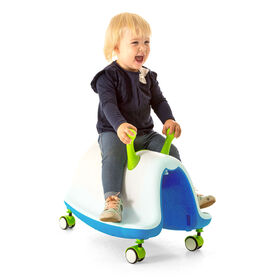 Chillafish Trackie, Rocker, Walker, Ride-On & Play Train All in One, Blue & Lime