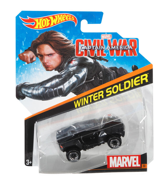 Hot Wheels Marvel Character Car - Winter Soldier