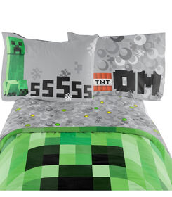 Minecraft Ensemble de draps pour lit 2 place