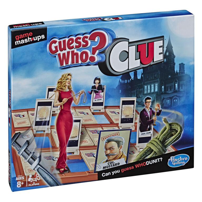Game Mashups Guess Who? Clue - English Edition - R Exclusive