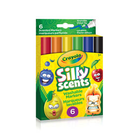 Crayola - Silly Scents Wedge Tip Markers, 6 ct