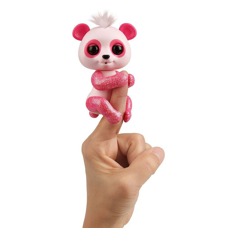 Fingerlings Glitter Panda - Polly (Pink) - Interactive Collectible Baby Pet