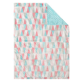Baby's First By Nemcor Reversible Baby Blanket- Triangle Design
