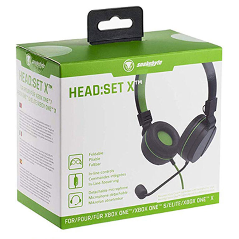 Snakebyte XBoxOne GamHeadset on Ear Blk/Green