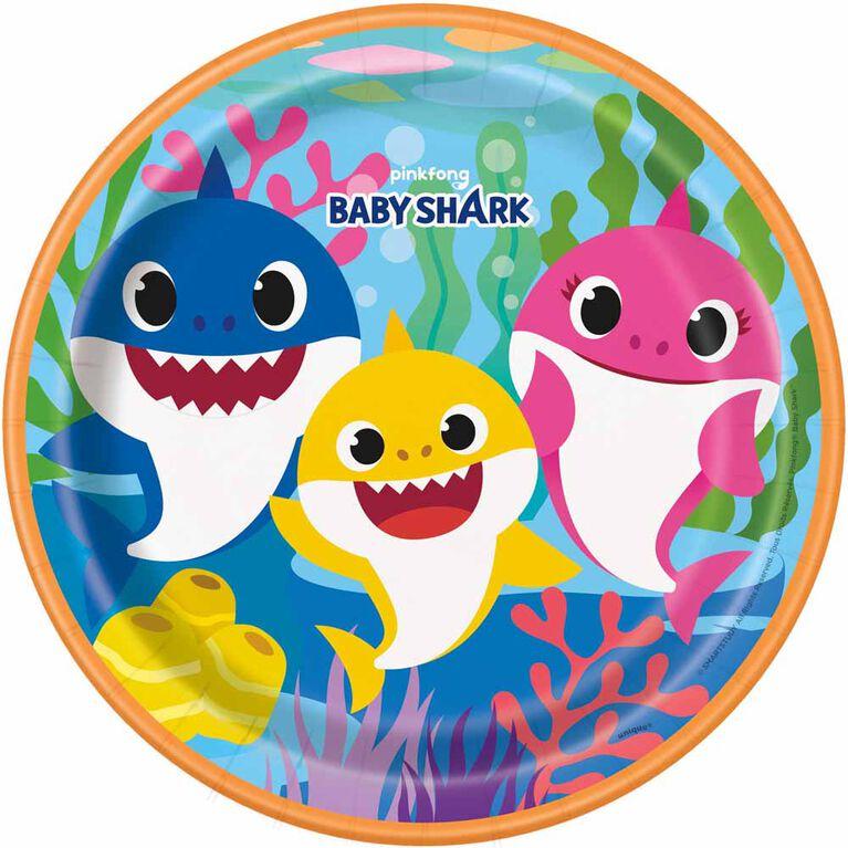 Baby Shark Assiettes 9po, 8un
