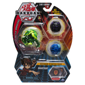 Bakugan Starter Pack 3-Pack, Maxotaur, Collectible Transforming Creatures