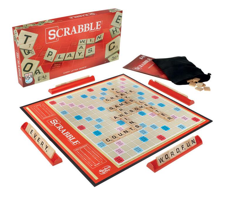 Hasbro Gaming - Jeu Scrabble - Édition française. - les motifs peuvent varier