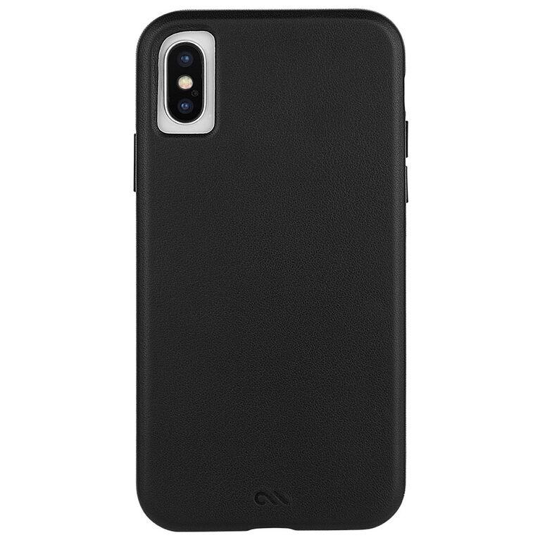 Étui Barely There cuir de Case-Mate pour iPhone Xs/X, noir