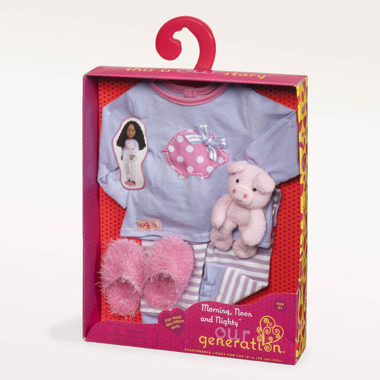 Our Generation, Morning, Noon And Nighty, Piggy Pajama Outfit for 18-inch Dolls