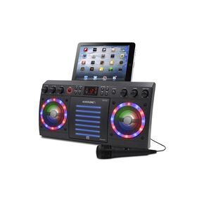 iKARAOKE Bluetooth CD+G Karaoke System, Black