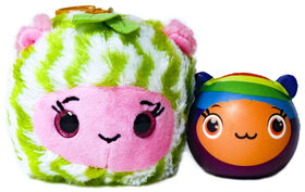 Furzerts Scented Cuddle Cups - Wally Watermelon Plush & Squishi LollySwirl Sally
