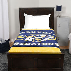 NHL Luxury Velour Blanket - Nashville Predators
