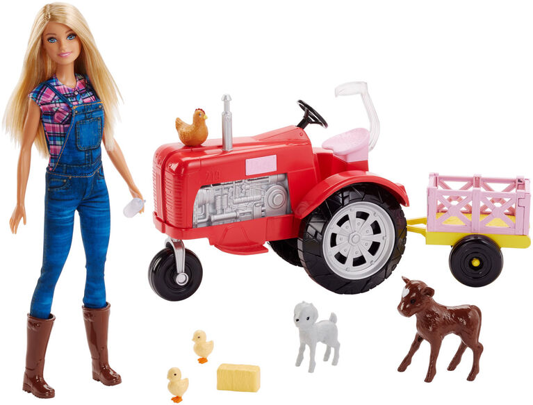 Barbie Doll and Tractor