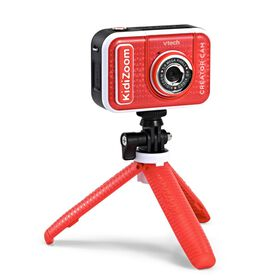 VTech KidiZoom Creator Cam - High-Definition Kids' Camera for Photos and Videos, Included Green Screen, Flip-Out Selfie Camera, Selfie Stick/ Tripod, Auto Timer