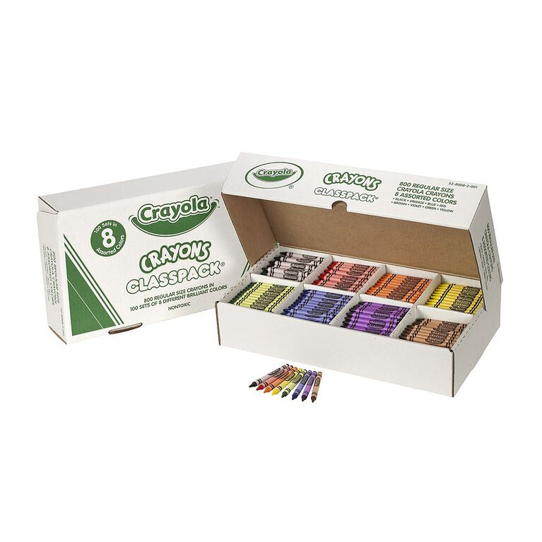 Crayola Class Pack Crayons, 8 Colours,800 Ct