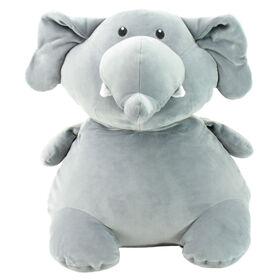 Animal Adventure Squeeze with Love - Jumbo Plush Elephant - Gray