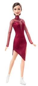 Poupée Tessa Virtue Barbie Shero articulée, vêtue d'une tenue de patineuse artistique pourpre et de patins à glace - R Exclusif