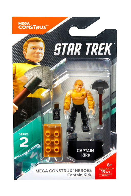 Mega Construx Heroes Star Trek Captain Kirk Micro Action Figure