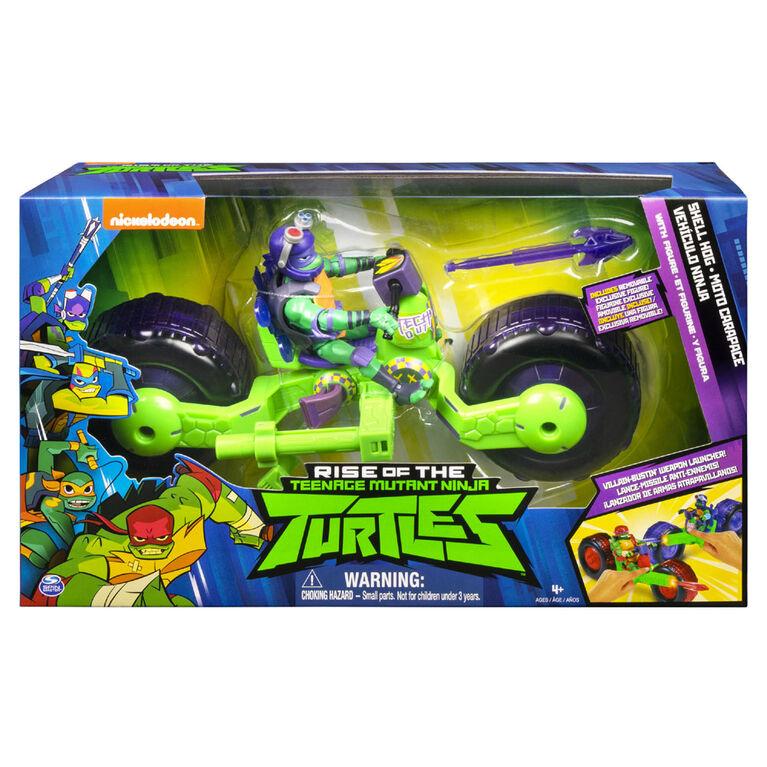 Rise of the Teenage Mutant Ninja Turtles – Shell Hog Motorcycle Vehicle with Donatello Action Figure